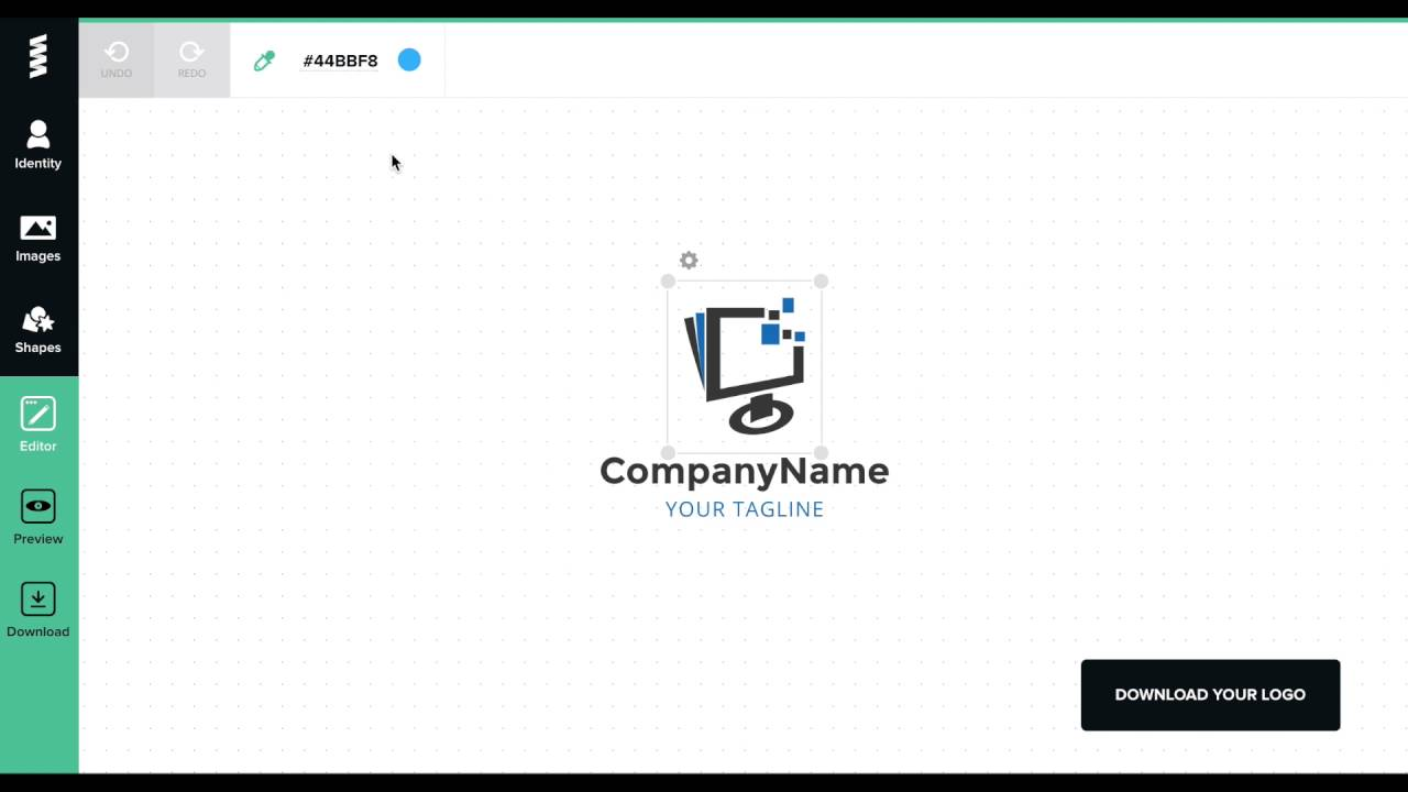 thiết kế logo chữ online-graphicsprings